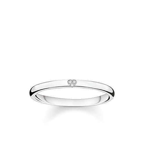 Thomas Sabo Damen-Ring Glam & Soul 925 Sterling Silber Diamant Pav wei Gr. 52 (16.6) D_TR0016-725-14-52