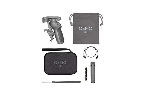 DJI Osmo Mobile 3 Combo Kit - 3-Achsen-Smartphonestabilisator kompatibel mit iPhone und Smartphone Android, leichtes und tragbares...