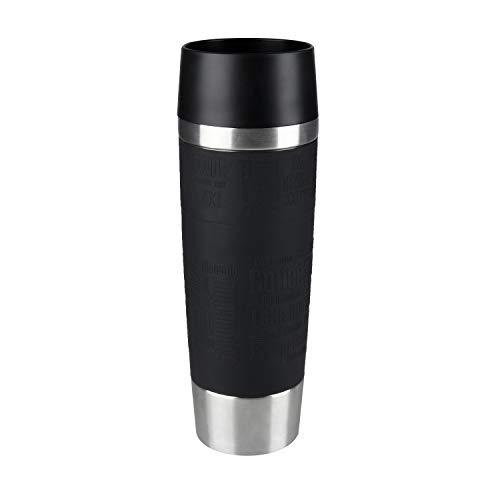 Emsa 515615 Travel Mug Standard-Design Grande, Thermobecher, 500ml, hlt 6h hei/ 12h kalt, Schwarz