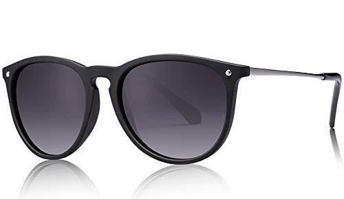 Carfia Vintage Polarisierte Sonnenbrille fr Damen Herren UV400 Schutz Ultraleicht Rahmen