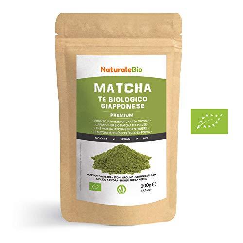Matcha Tee Pulver Bio [Premium-Qualitt] 100g. Original Green Tea aus Japan. Japanischer Matcha ideal zum Trinken. Grntee-Pulver fr...