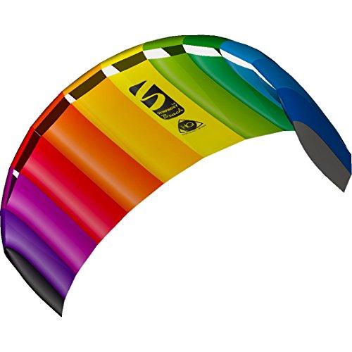 HQ 11768250 - Symphony Beach III 1.8 Rainbow, Zweileiner Lenkmatten, ab 12 Jahren, 60x180cm, inkl. 70 kp Blendlineschnre 2x25m auf...