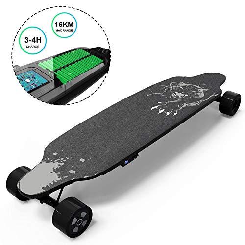 GeekMe Elektro-Skateboard mit Fernbedienung, 400-W-Longboard fr brstenlose Motoren fr Profis, 35 x 9-Zoll-Elektroplatine fr...
