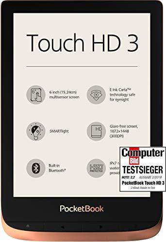 PocketBook e-Book Reader 'Touch HD 3' (16 GB Speicher; 15,24 cm (6 Zoll) E-Ink Carta Display; SMARTlight; Wi-Fi; Bluetooth) in...