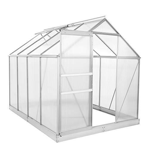 Zelsius - Aluminium Gewchshaus, Garten Treibhaus in verschiedenen Gren, mit Hohlkammerstegplatten, wahlweise mit...