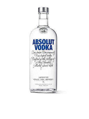 Absolut Vodka Original  Edler und extrem reiner Premium-Vodka aus Schweden in der ikonischen Apotheker-Flasche  1 x 1 L