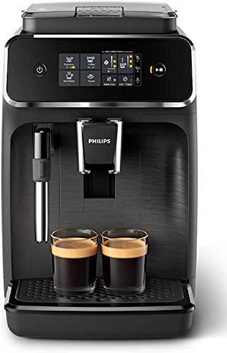 Philips 2200 Serie EP2220/10 Kaffeevollautomat, 2 Kaffeespezialitten, Schwarz/Schwarz-gebrstet