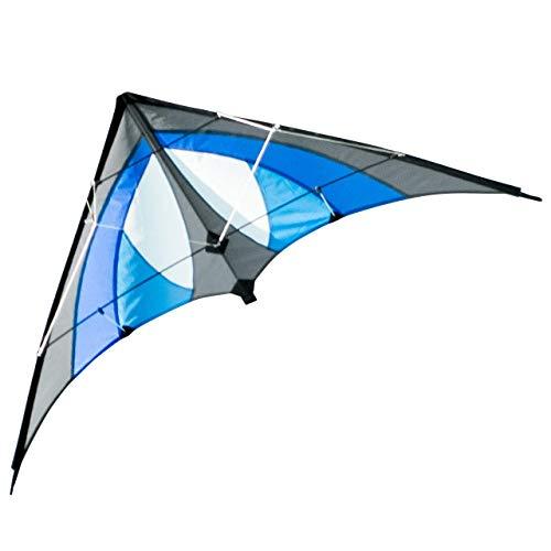 CIM Lenkdrachen - Shuriken MUSTHAVE Blue Sky - Drachen fr Kinder ab 8 Jahren - 120x60cm - inklusiv Steuerleinen auf Rollen -...
