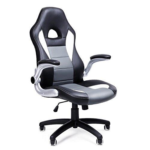 SONGMICS Brostuhl Chefsessel Drehstuhl Computerstuhl Hhenverstellung office Stuhl Polsterung wegklappbare Armlehne OBG28G