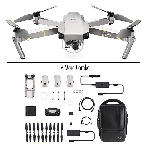 DJI Mavic Pro Platinum Combo - Drohne mit 4K Full-HD Videokamera inkl. Fernsteuerung I 12 Megapixel Bilderqualitt und bis zu 7 km...