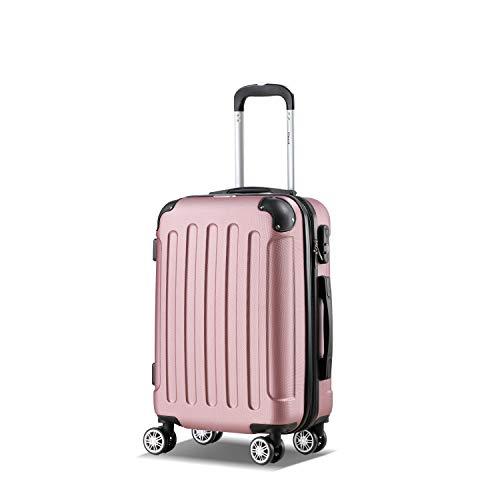 Flexot 2045 Handgepck Koffer (Bordcase) - Farbe Rosa (Pink) Gre M Hartschalen-Koffer Trolley Rollkoffer Reisekoffer Handgepck 4...