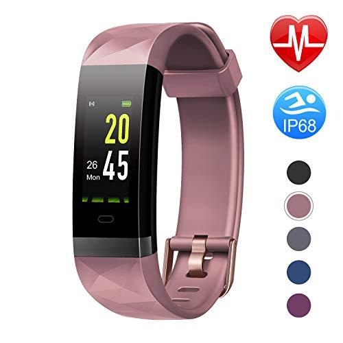 Letsfit Fitness Armband Farbbildschirm mit Pulsmesser, Fitness Tracker IP68 Wasserdicht 0,96 Zoll Aktivittstracker Schrittzhler...