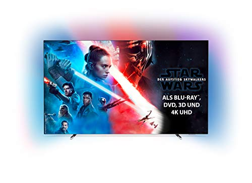 Philips Ambilight 55OLED804 139 cm (55 Zoll) Oled TV (4K UHD, HDR10+, Android TV, Dolby Vision, Google Assistant, Alexa...