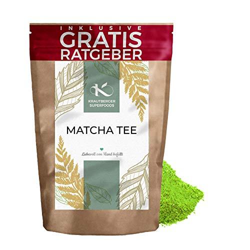 Matcha Tee 100g I Premium Matcha Pulver I hochwertiger natrlicher Tee feines Grntee-Pulver I Krautberger Tee ohne Zustze I inkl....