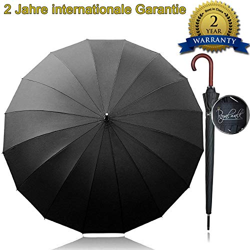 Royal Walk Gro XXL 54 inch Automatik Reise Golf Regenschirm fr Damen und Herren Sturmfest Windsicher Leicht Klassisch fr 2...
