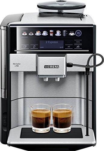 Siemens EQ.6 plus s700 Kaffeevollautomat TE657503DE, automatische Reinigung, Direktwahl, zwei Tassen gleichzeitig, 1.500 Watt,...