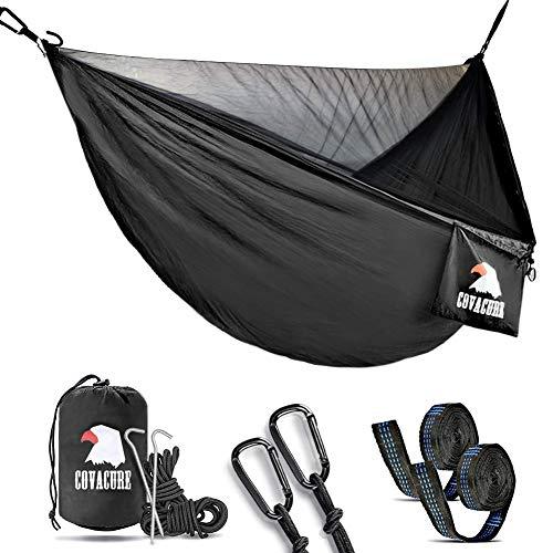 Hngematte,2 Personen Hngematte Outdoor mit Moskitonetz Ultra - Licht Atmungsaktiv, Schnell Trocknende Fallschirm Nylon Camping...
