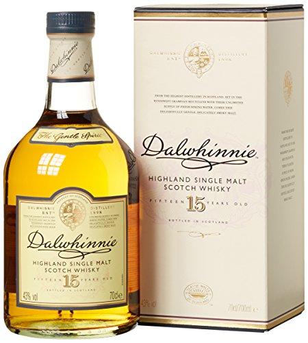 Dalwhinnie Highland Single Malt Scotch Whisky  15 Jahre gereift  Aromen von Heidekraut und Honig  1 x 0,7l