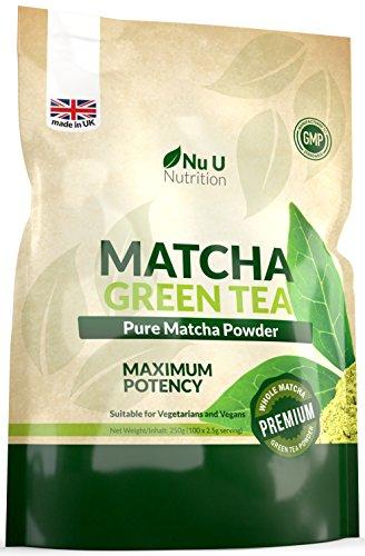Matcha Grntee Pulver 250g   Hochwertiger Matcha Tee 250g Doppelgre   Hergestellt in Grobritannien   ultrafeinem   leicht zu...