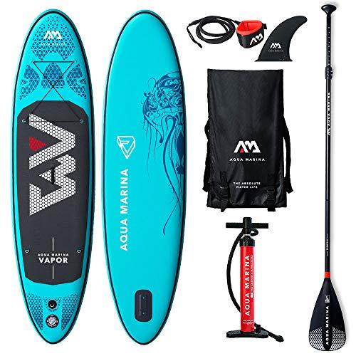 Aqua Marina Aufblasbares Stand Up Paddle SUP AQUAMARINA Vapor 2019 Komplettpaket 300x76x12cm